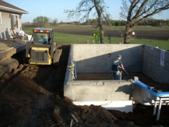 backfill pool wall