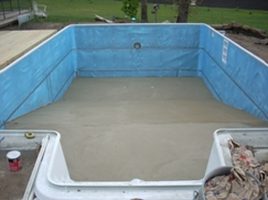 TC Pools Full 8' deep-end with no hopper walls